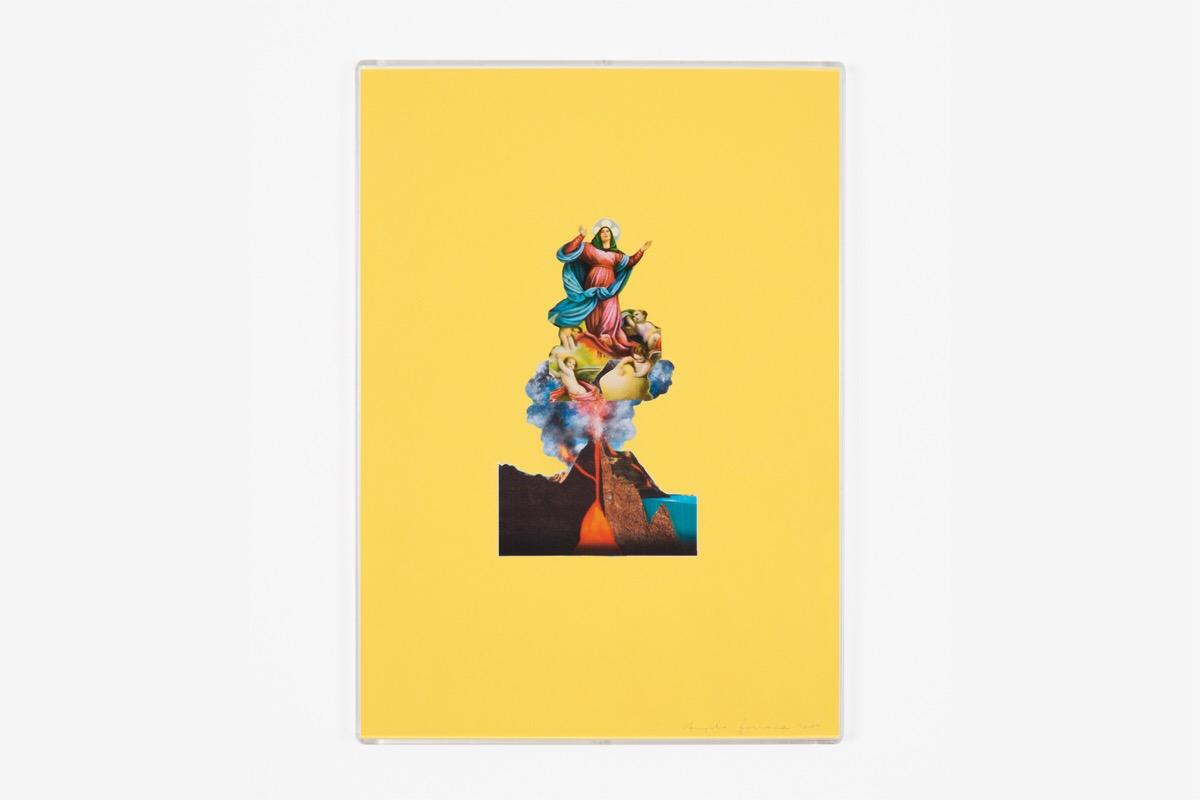 Angelo Formica, Ascensione, collage su forex in teca, 2009, Galleria Toselli