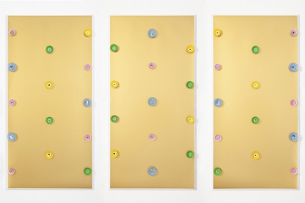 Angelo Formica, Dolce paradiso, collage on forex in case, 2013, Galleria Toselli