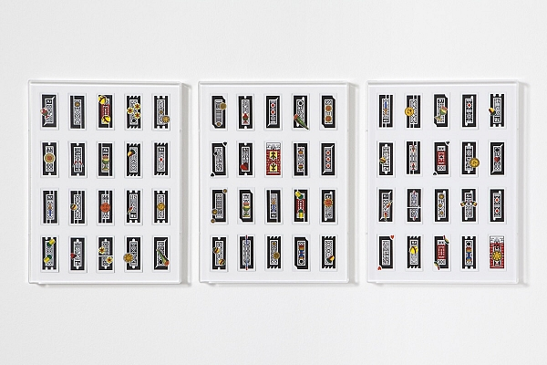 Angelo Formica, Jakarta, collage on forex in case, 2013, Galleria Toselli