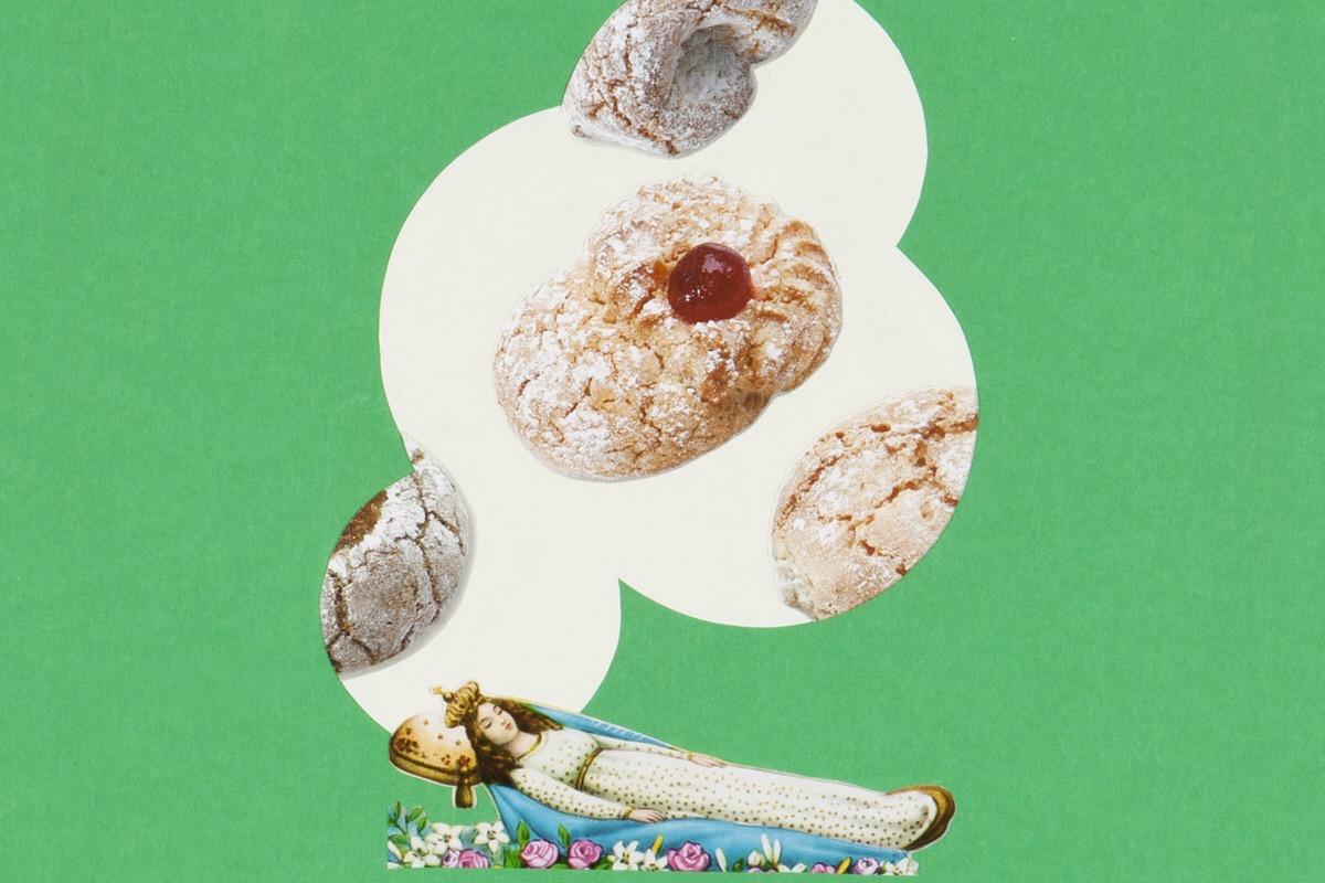 Angelo Formica, Il dolce risveglio, dettaglio, collage su forex in teca, 2010, Galleria Toselli
