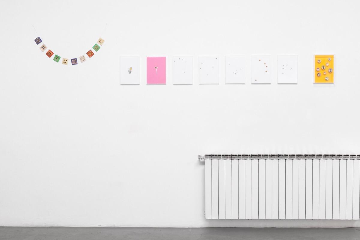 Angelo Formica, Ricreazione, costellazioni, terrasanta, veduta della mostra, 2017, Galleria Antonia Jannone